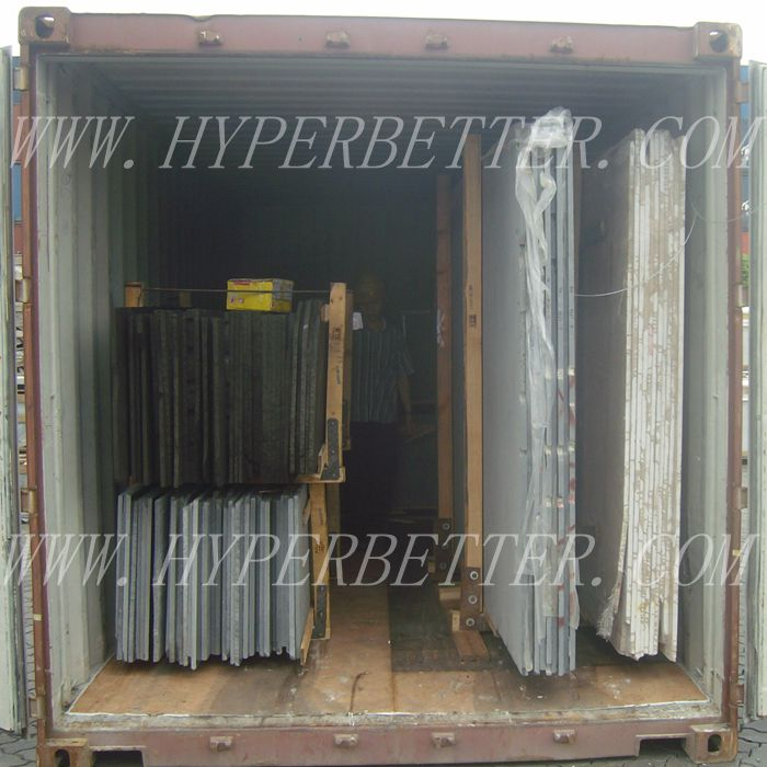 Slabs loading container