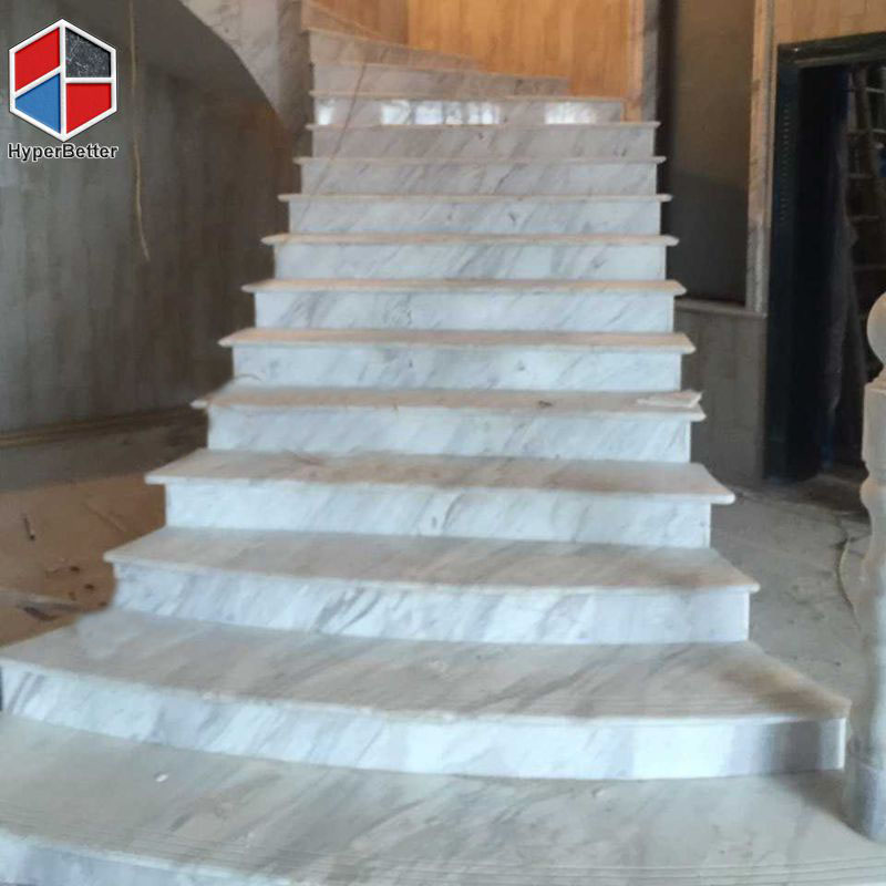 Carrara white marble stair