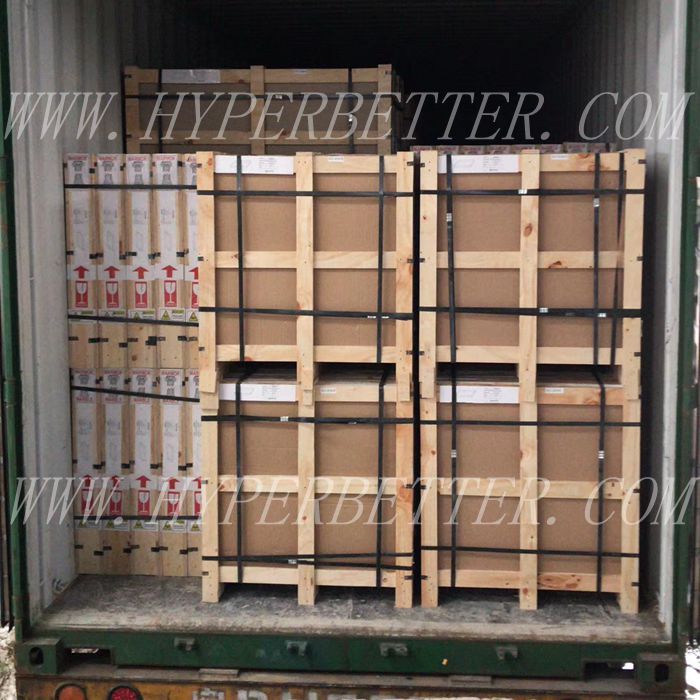 Crate loading container