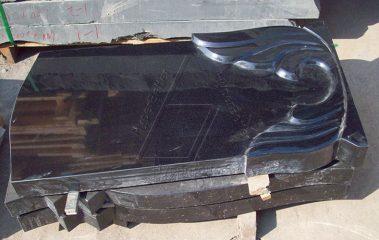 Absolute black granite headstone