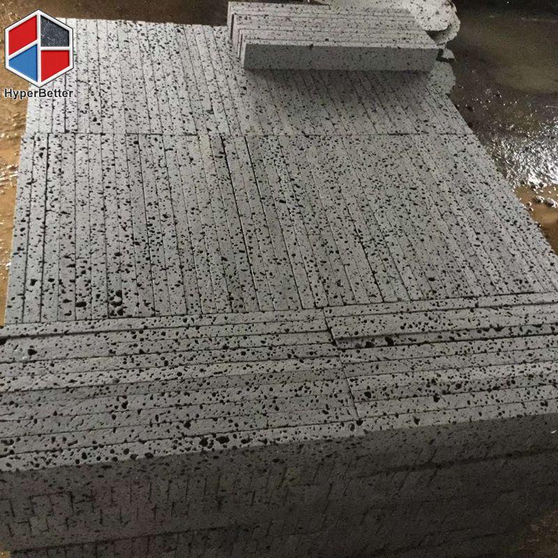 Big hole grey basalt tile