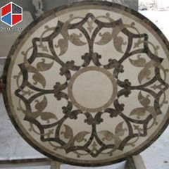 Floor natural marble medallion