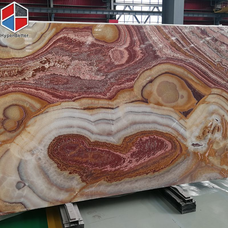Fresh red onyx slabs (1)