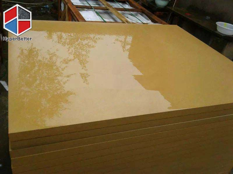 Polished yellow sandstone