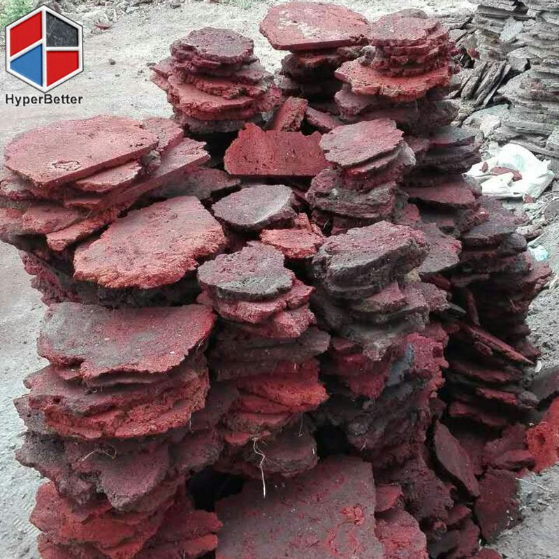 Red lava stone tile
