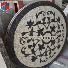 Waterjet Big square granite medallion