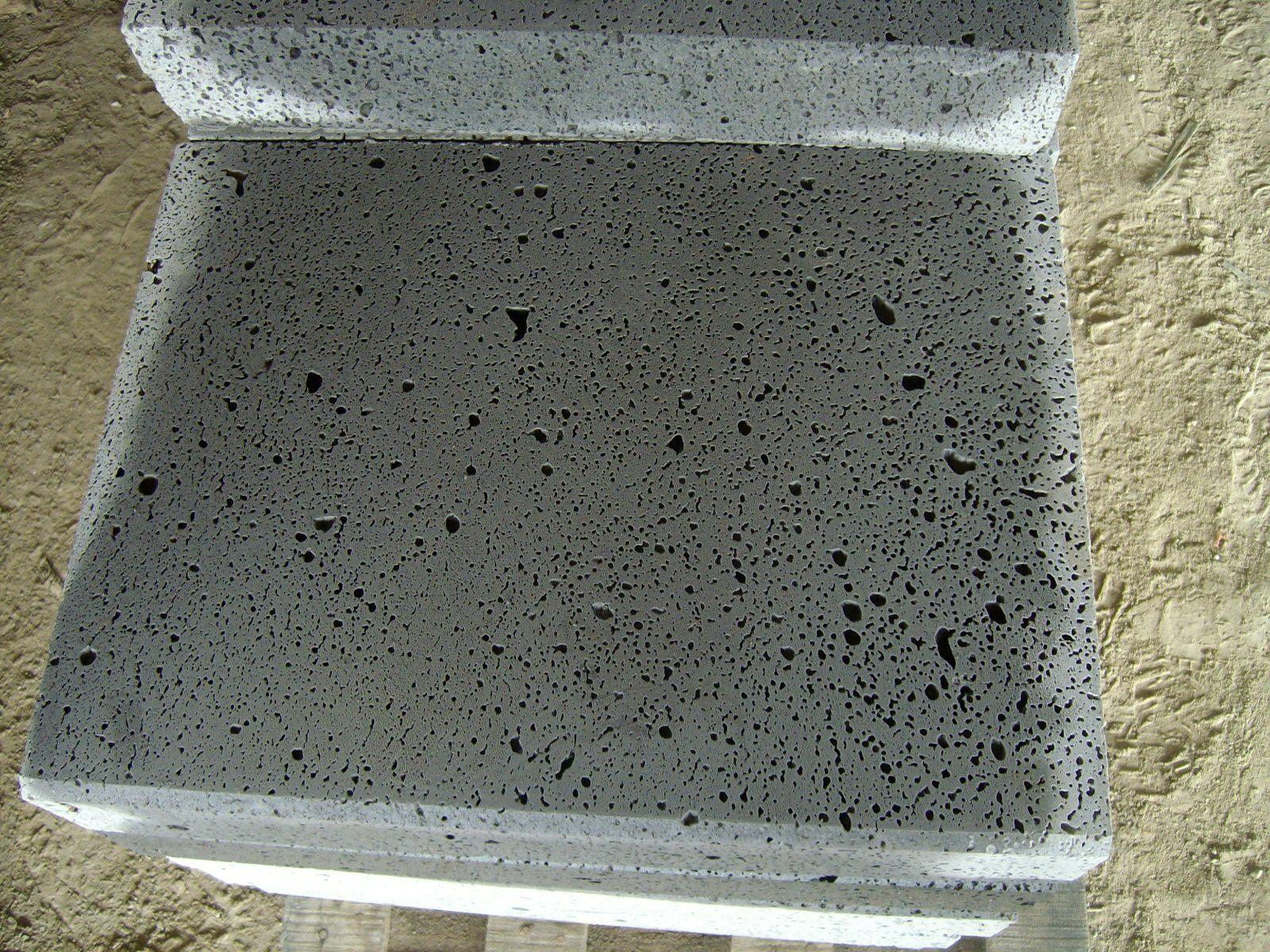 Big hole grey basalt tile (2)