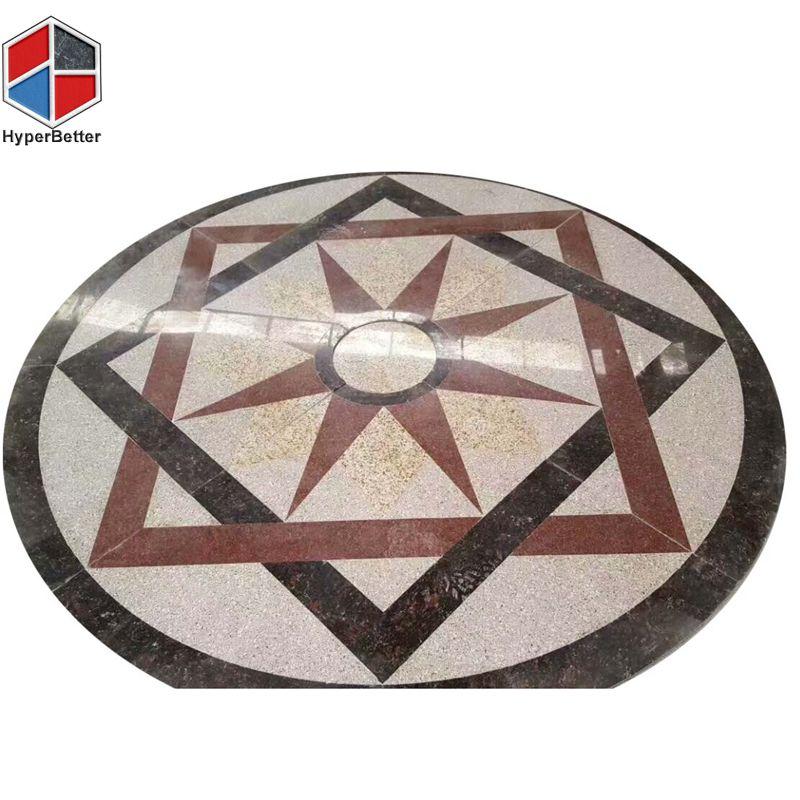 Star shape marble medallion