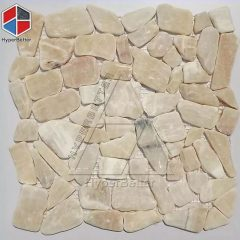 Beige cobblestone mosaic