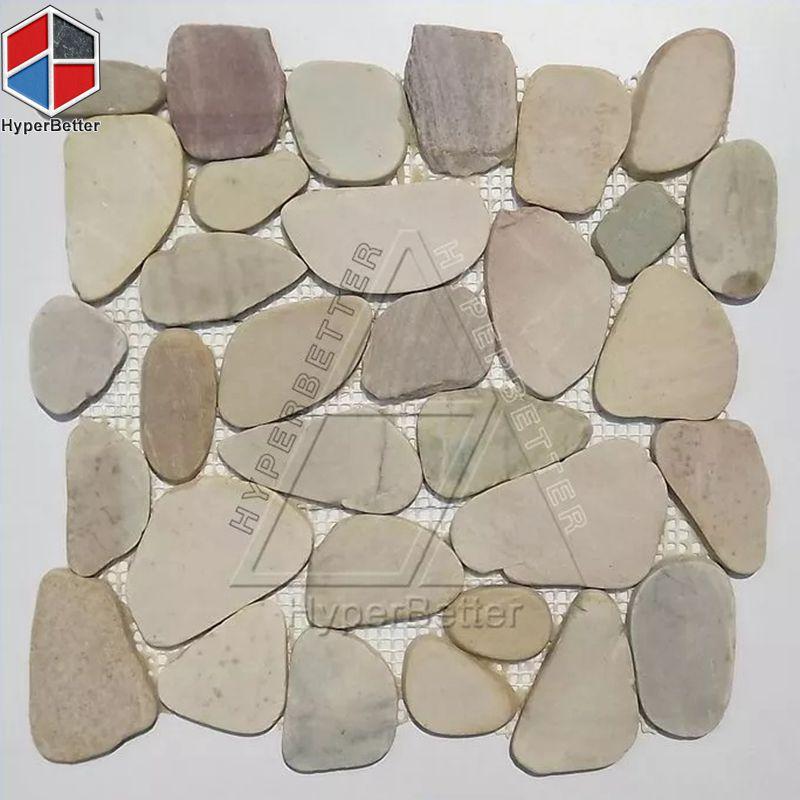 Block cobblestone mosaic