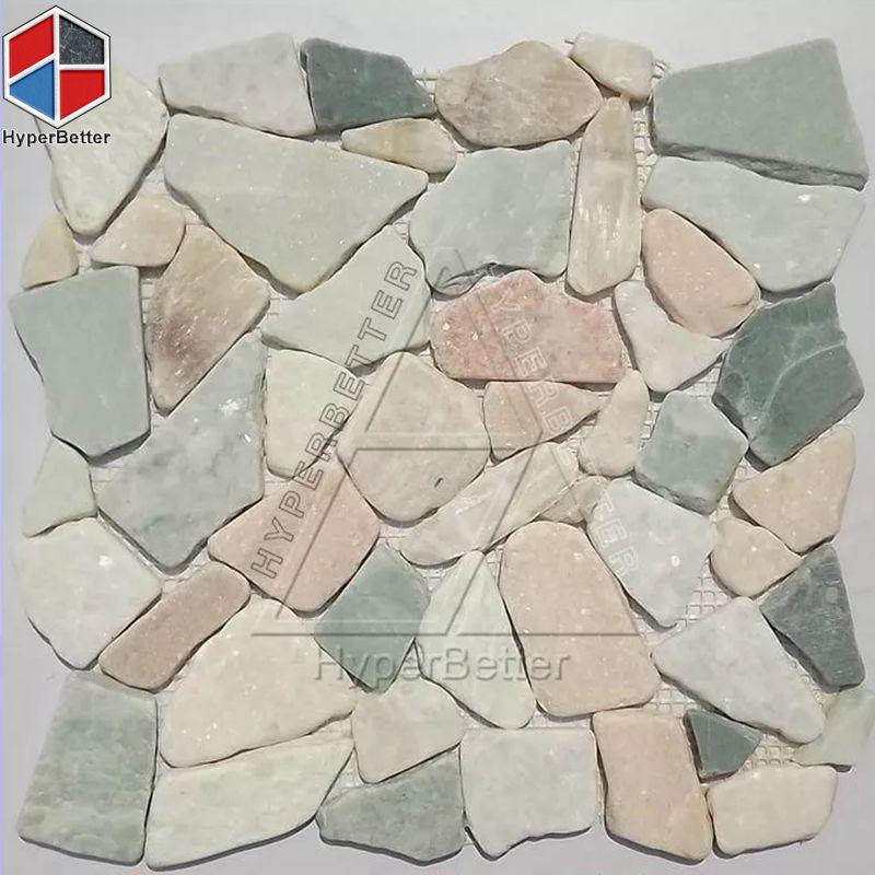 Blueness cobblestone mosaic
