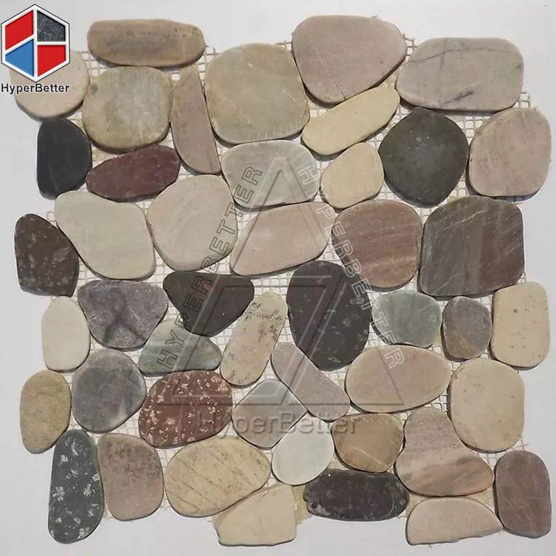 Brown cobblestone mosaic
