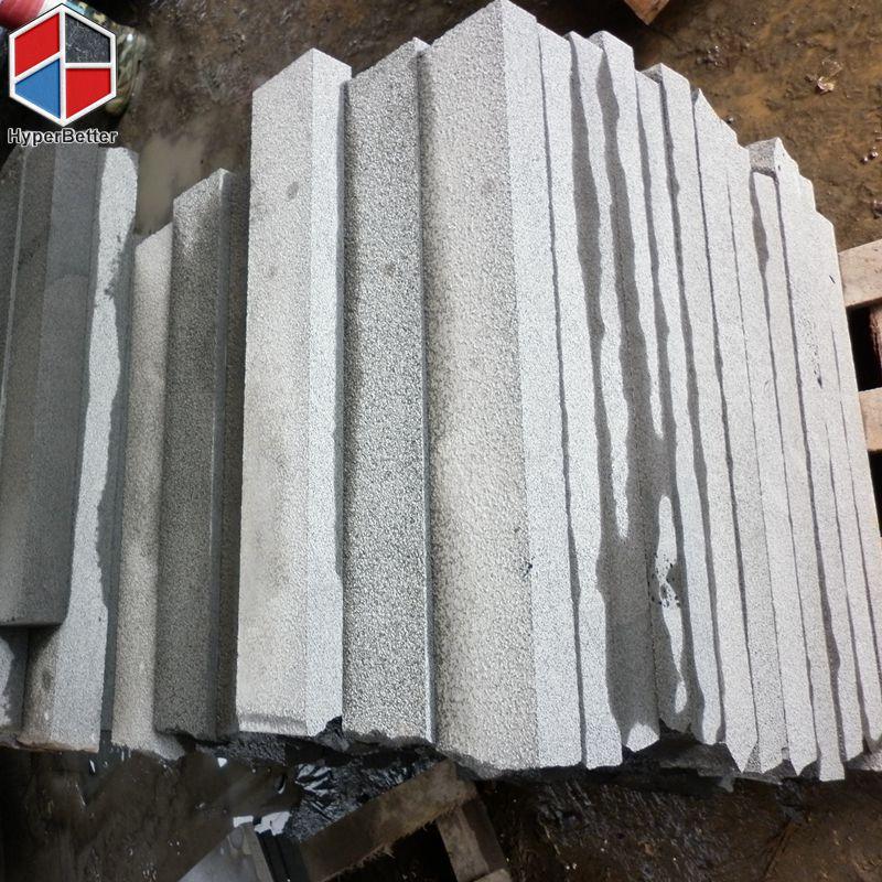 Bush-hammered black basalt cubics (4)