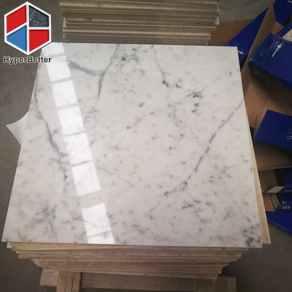 Carrara white marble tiles (2)
