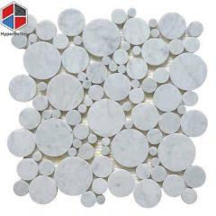 Carrara white round marble mosaic