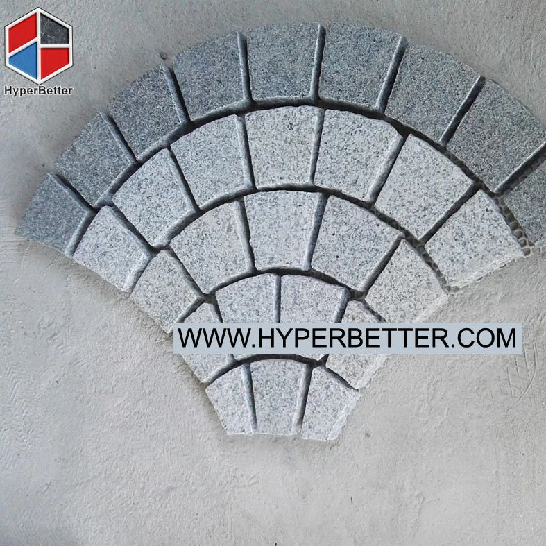 Fan shaped grey paving stone-1