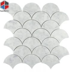 Fan shape marble mosaic (1)