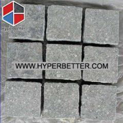 Flamed green granite paving stone (3)