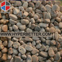 Garden yellow pebbles stone