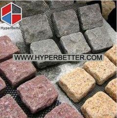 Granite cubes on net
