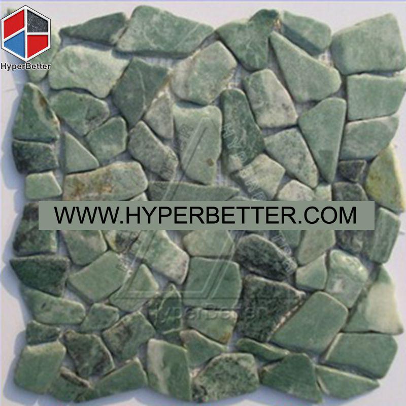 Green cobblestone mosaic