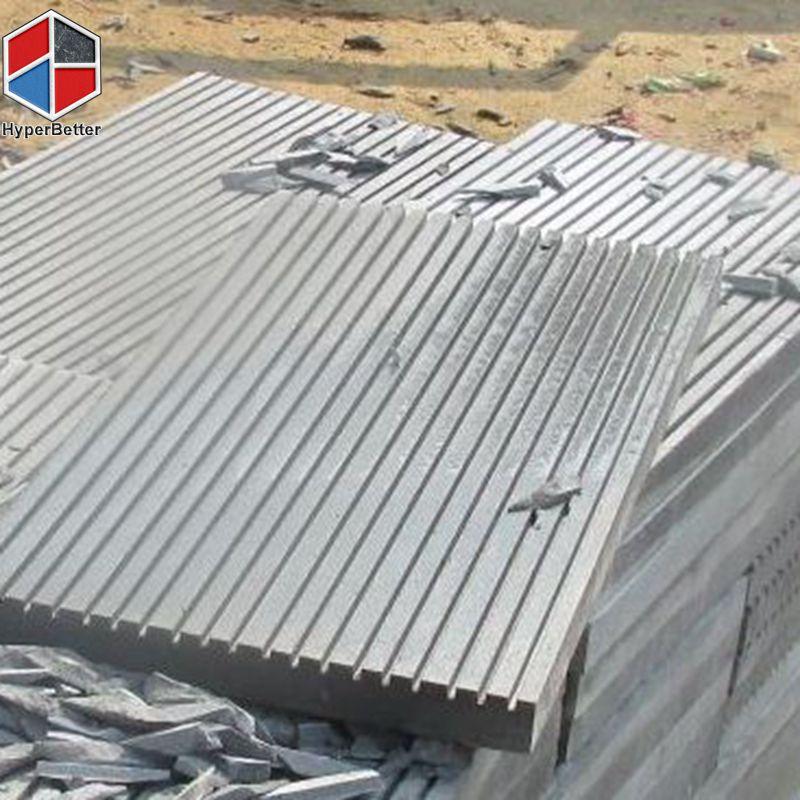 Groove grey basalt tile