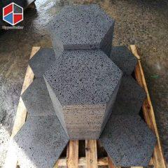 Hexagon basalt paving stone