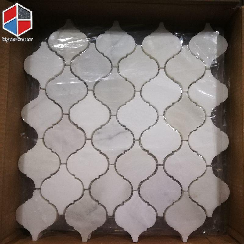 Lantern white marble mosaic (1)