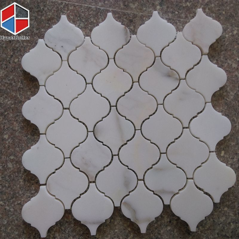 Lantern white marble mosaic (2)