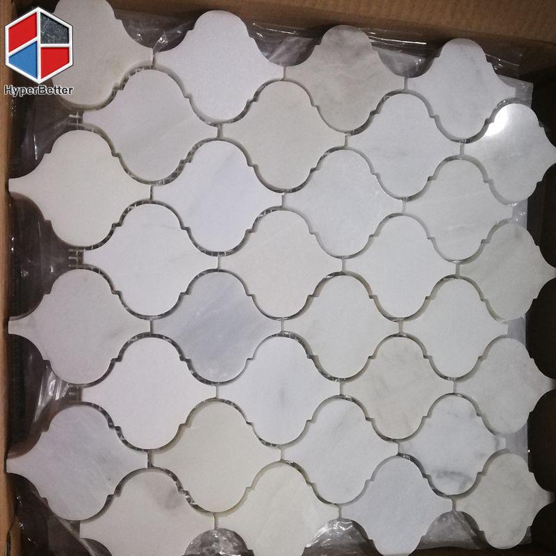 Lantern white marble mosaic (3)