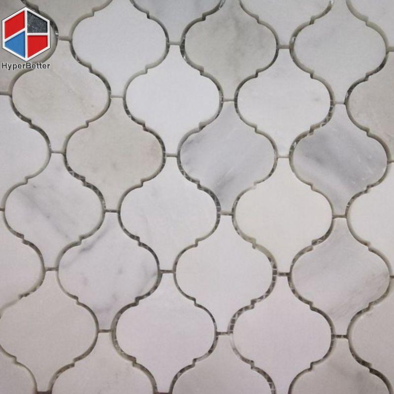 Lantern white marble mosaic (4)