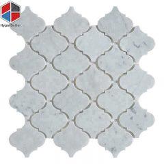 Lantern white marble mosaic (5)