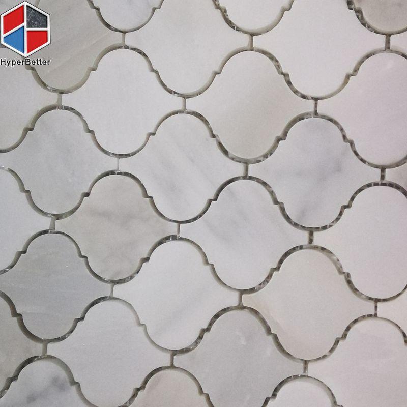 Lantern white marble mosaic