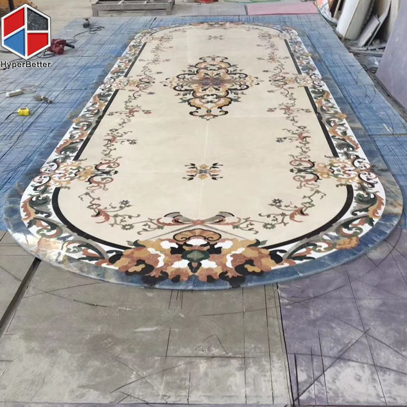 Luxury oval marble medallion for lobby
