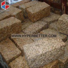 Natural yellow paving granite stone