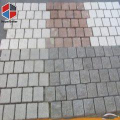 Colorful bricks paving stones