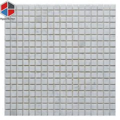 Square carrara white marble mosaic-1