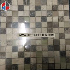 Square mixed color slate mosaic
