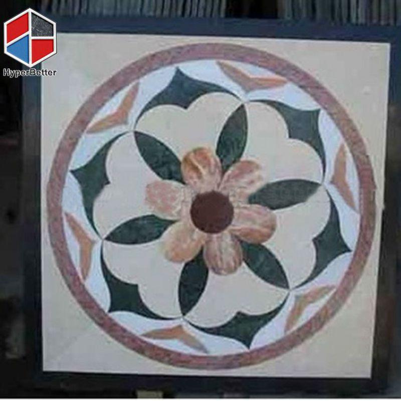Flower Pattern Marble Floor Medallions | Water Jet Marble Medallion