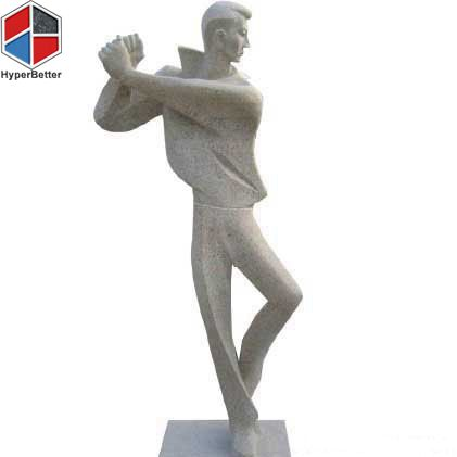 Abstract golf sportsman stone sculpture