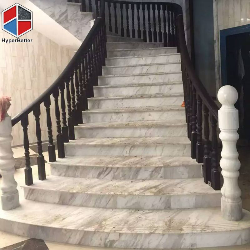 Arabescato White Marble Stairs (2)