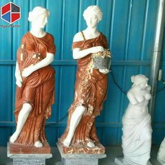 Colorful women marble statue