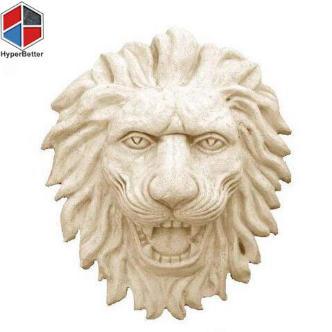 Elegant marble lion sculpture