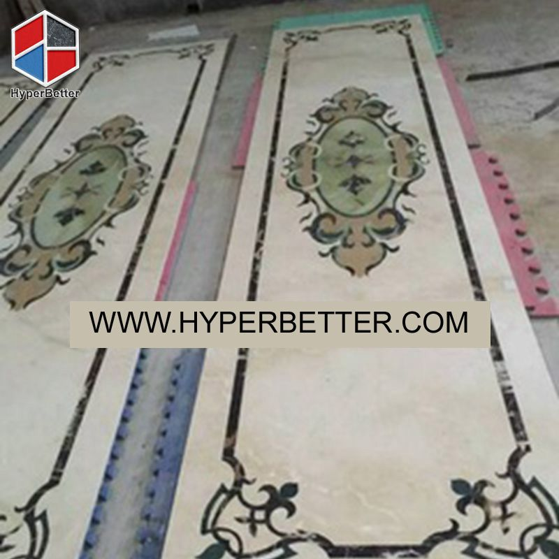 Oriental style water jet marble tile (1)