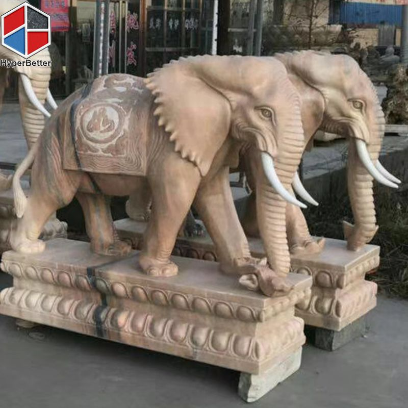 Perfect marble elephant sculpture-1