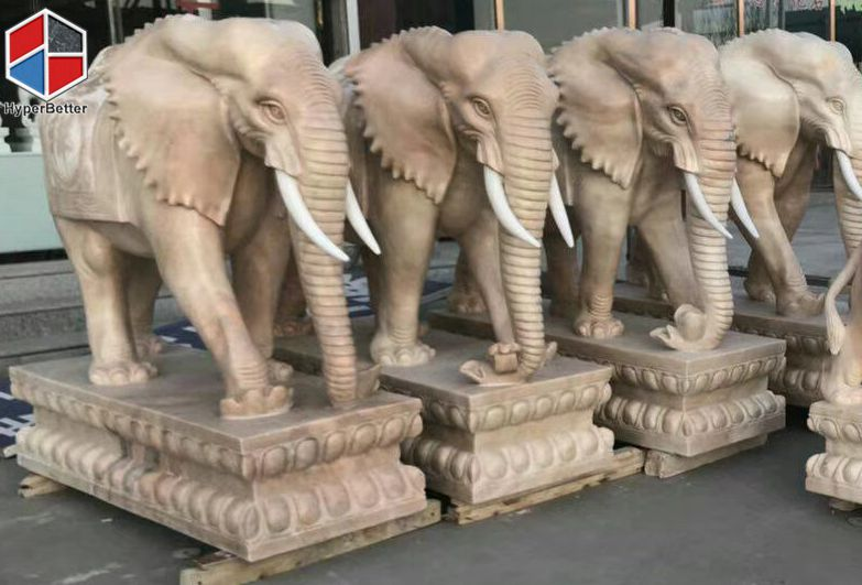 Perfect marble elephant sculpture