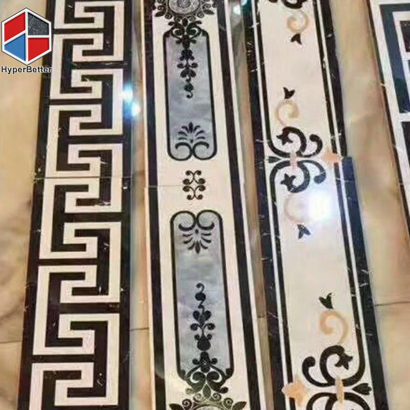 Western style marble borders