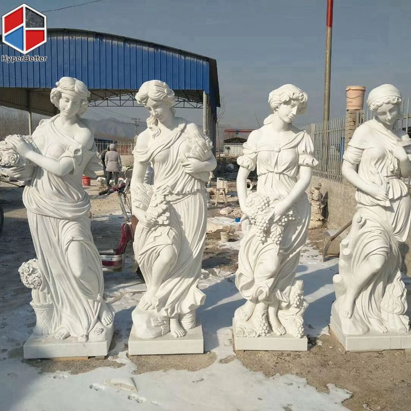 White marble women sculpture statue