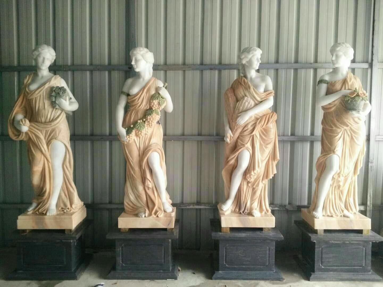 Colours marble women sculpture (2)