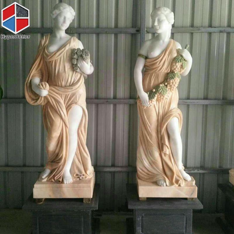 Colours marble women sculpture